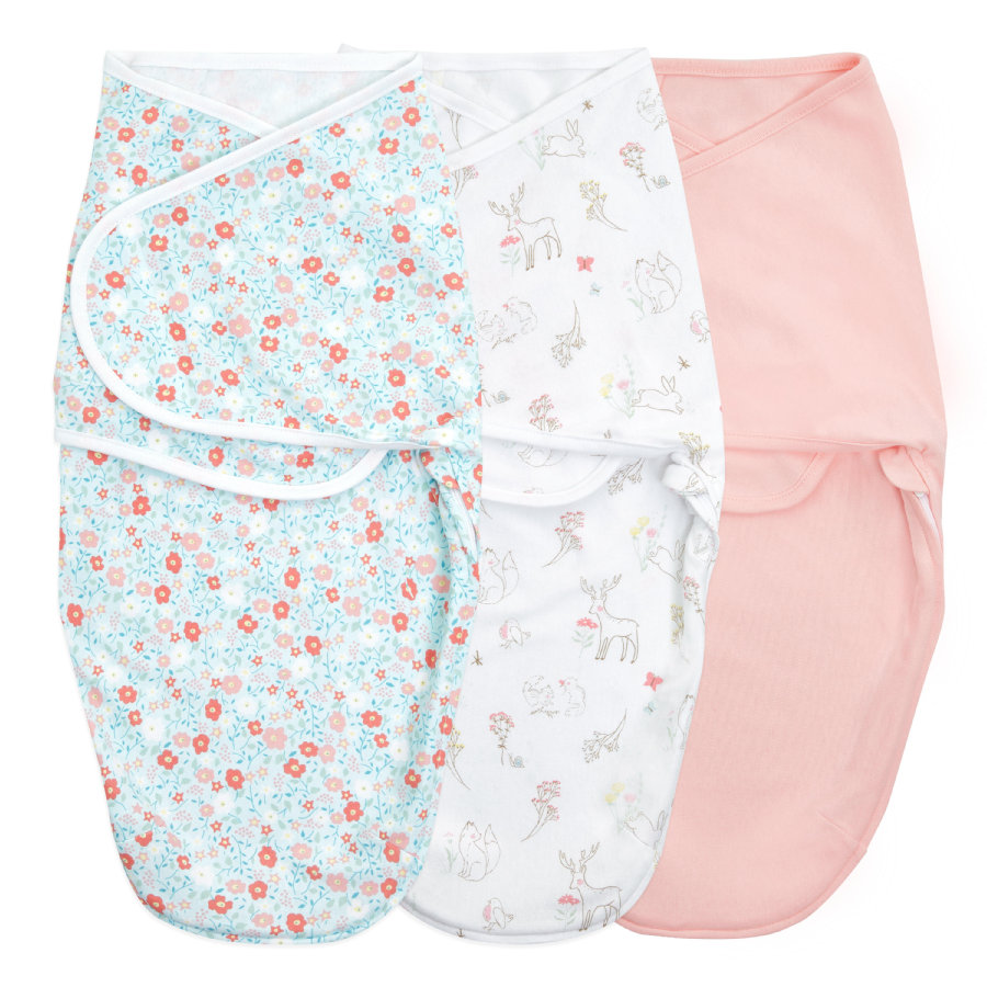 aden + anais™ essential s easy swaddle™ swaddle 3-pack fairy tale flower s 0-3 měsíce