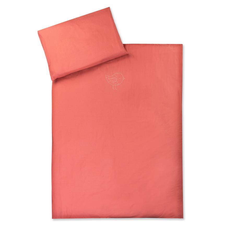JULIO ZÖLLNER ropa de cama con aplicación Pájaro de chile orgánico 100 x 135 cm
