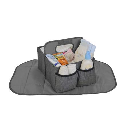 Altabebe oppbevaringsboks med stellematte Baby Caddy Grey