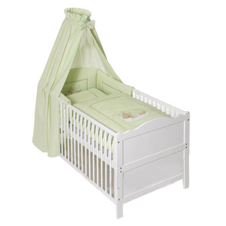 Easy Baby Komplet pościeli Sleeping Bear kolor zielony (400-84)