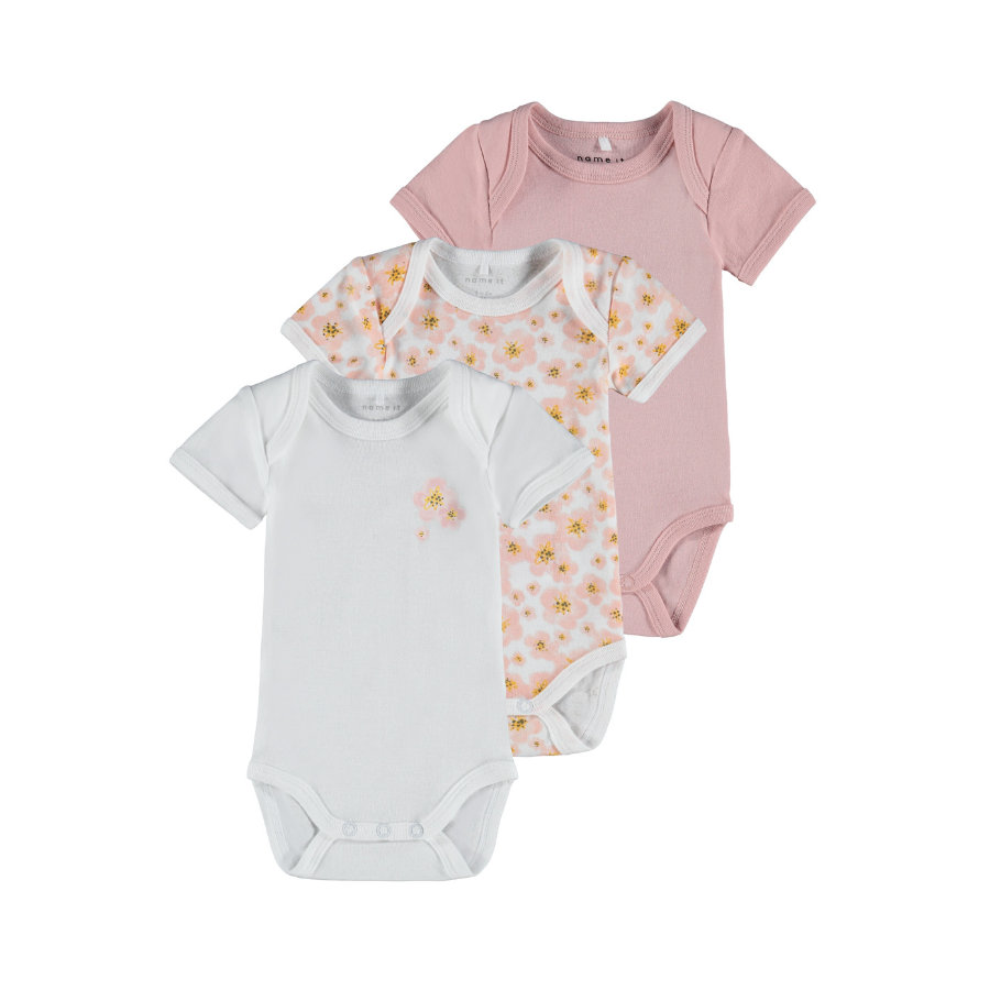 name it Body 3er Pack Silver Pink