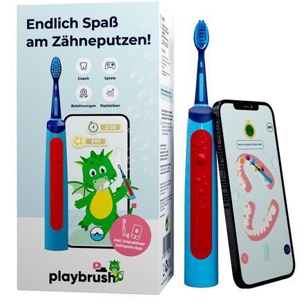 Playbrush Smart Sonic, elektrische Schallzahnbürste für Kinder mit gratis Zahnputz-App, blau