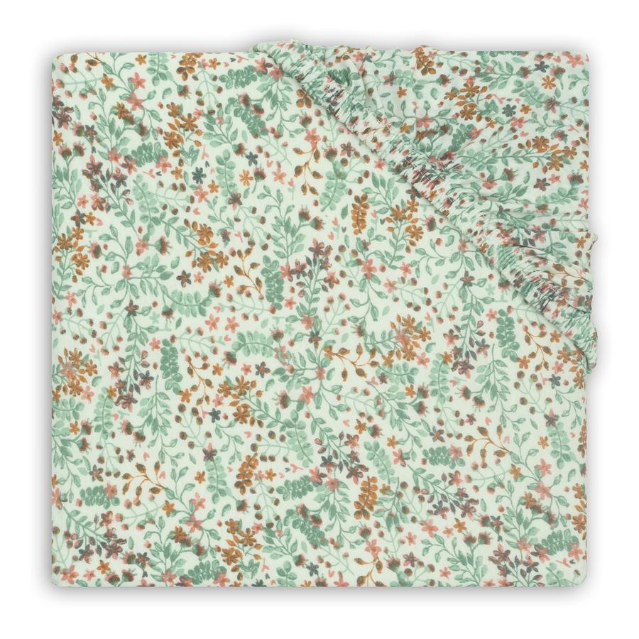 jollein Spannbettlaken Jersey bloom 40 x 80 cm