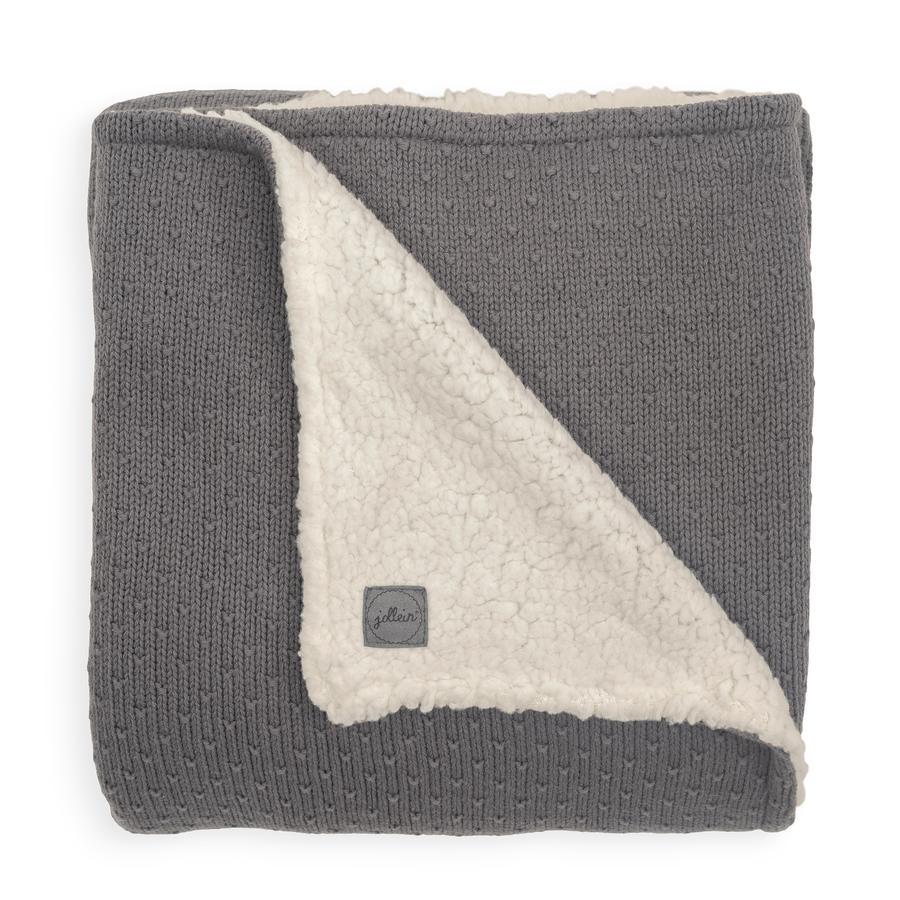 jollein Coperta a maglia Teddy Bliss grigio tempesta 100 x 150 cm