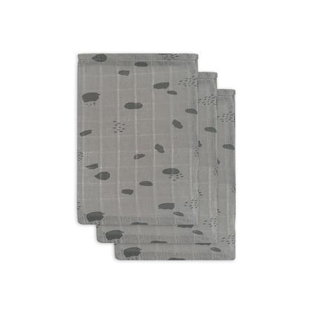jollein Gázová žínka Spot storm grey 3-pack