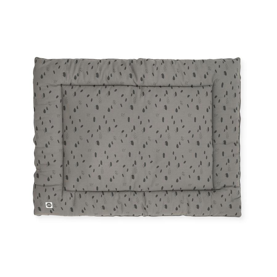 jollein manta de arrastre Mancha gris tormenta 80x100 cm