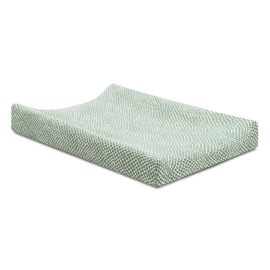 jollein Jersey Wickelkissenbezug Snake ash green 50x70 cm