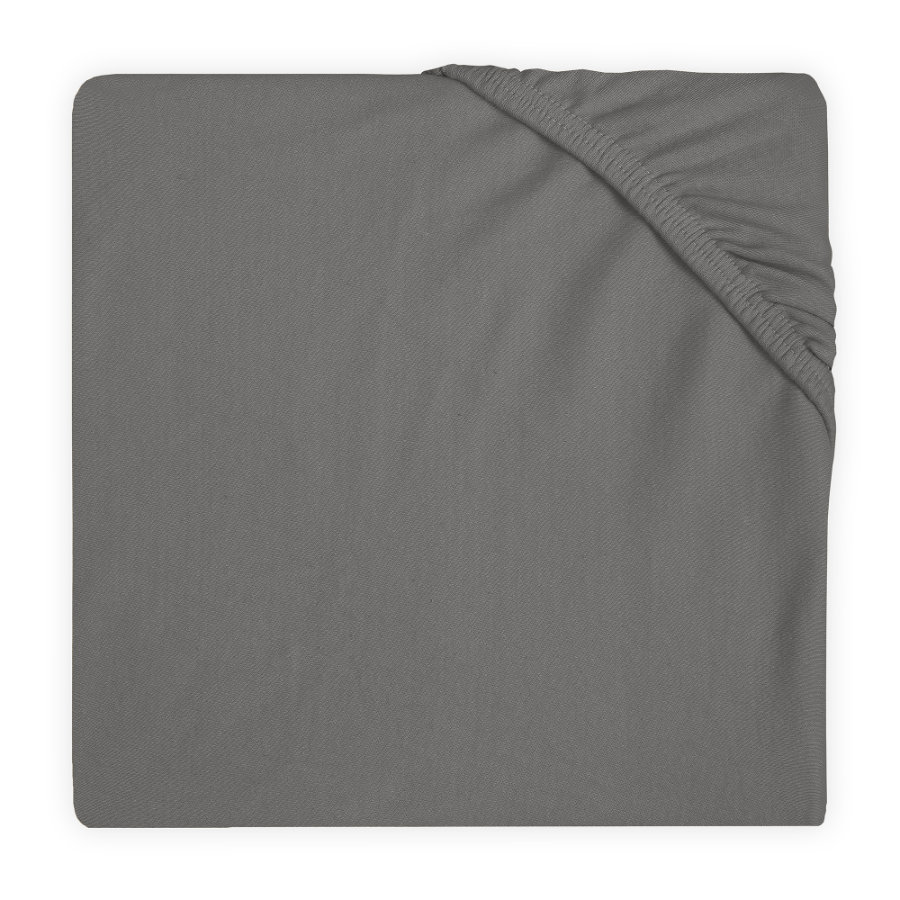 jollein Jersey Spannbettlaken storm grey 60x120 cm