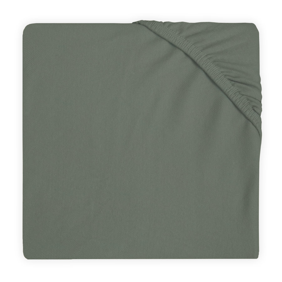 jollein Spannbettlaken Jersey ash green 40 x 80 / 90 cm