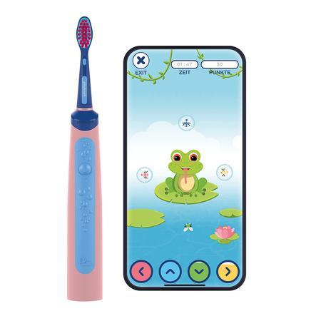 Playbrush Smart Sonic, elektrische Schallzahnbürste für Kinder mit gratis Zahnputz-App, pink