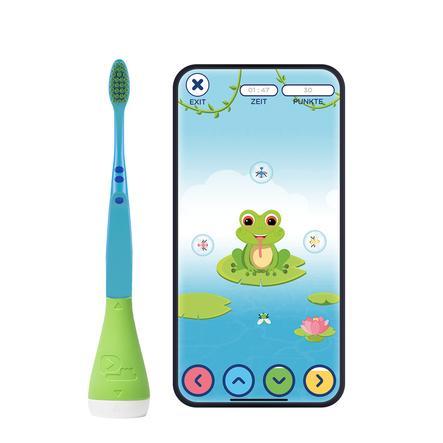 Playbrush Smart manuel tandbørste til børn med gratis tandbørste-app, grøn