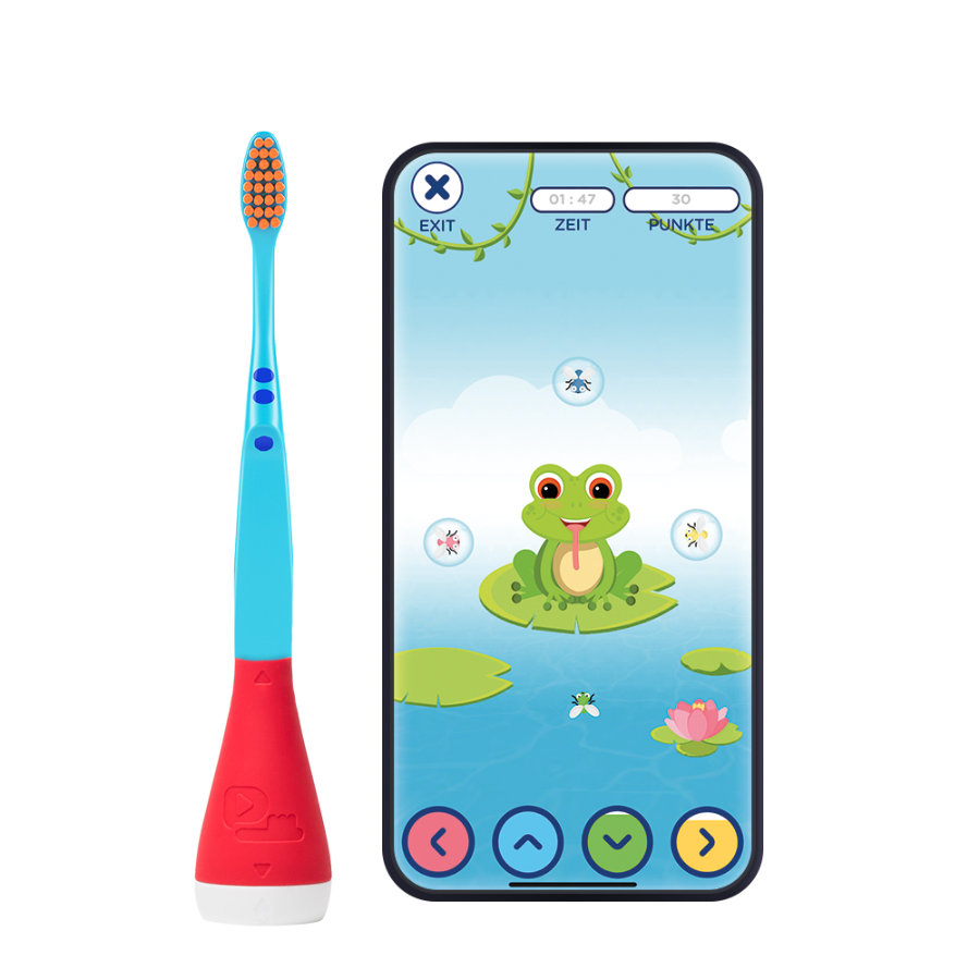 Playbrush Smart Handzahnbürste für Kinder mit gratis Zahnputz-App, rot