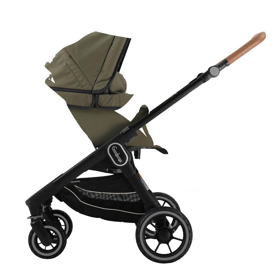 Emmaljunga Kinderwagen NXT60 Outdoor mit Wanne Black/Olive