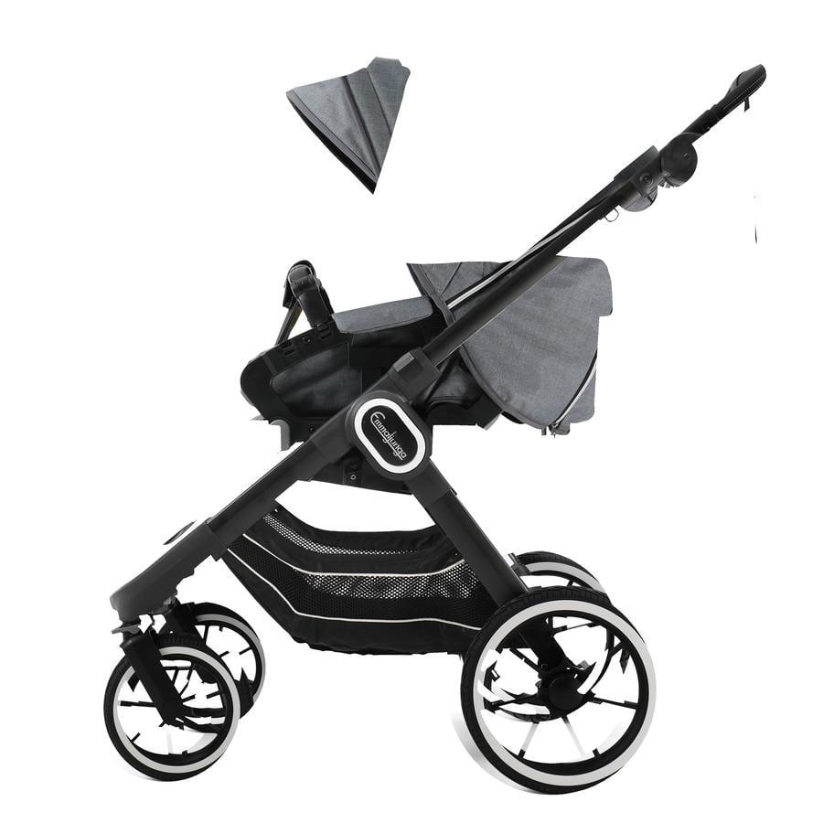 Emmaljunga Kinderwagen NXT90 Flat Black/Lounge Grey