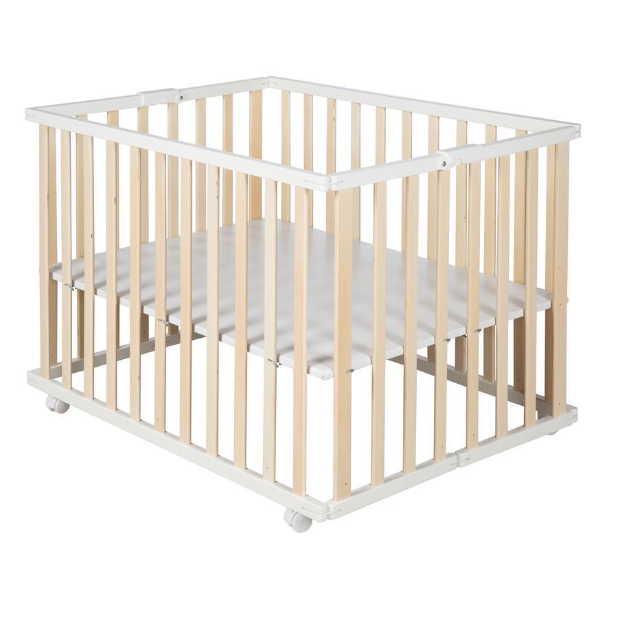 roba Parc bébé pliable bois bicolore 74x100 cm