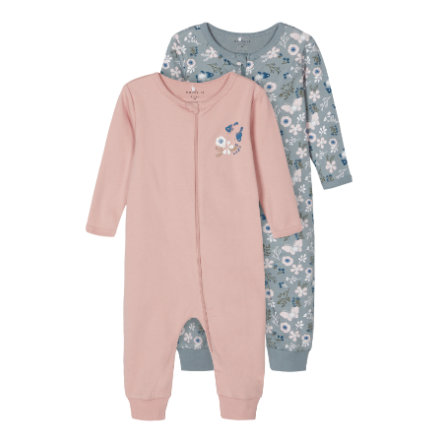 name it Sleeping overall 2-pack Pale Mauve