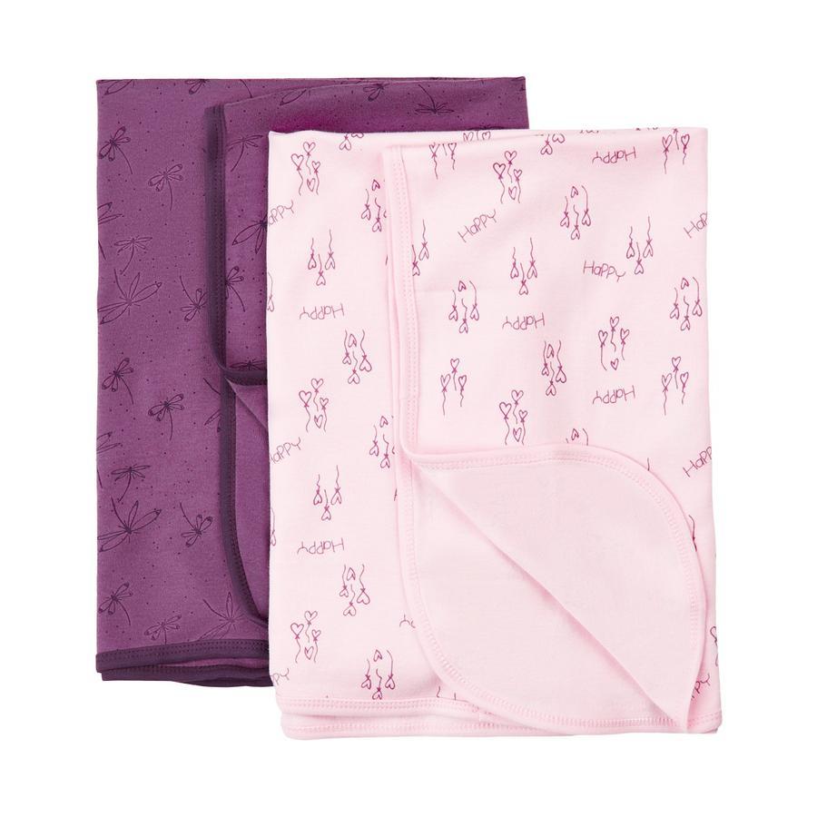 Pippi Babydecke 2er Pack deep purple
