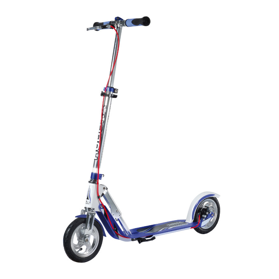 HUDORA Scooter Big Wheel Air 205 Dual Brake, silber/blau 14015