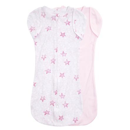 aden + anais ™ essential s easy swaddle ™ puckduk 2-pack blinkande stjärnor rosa