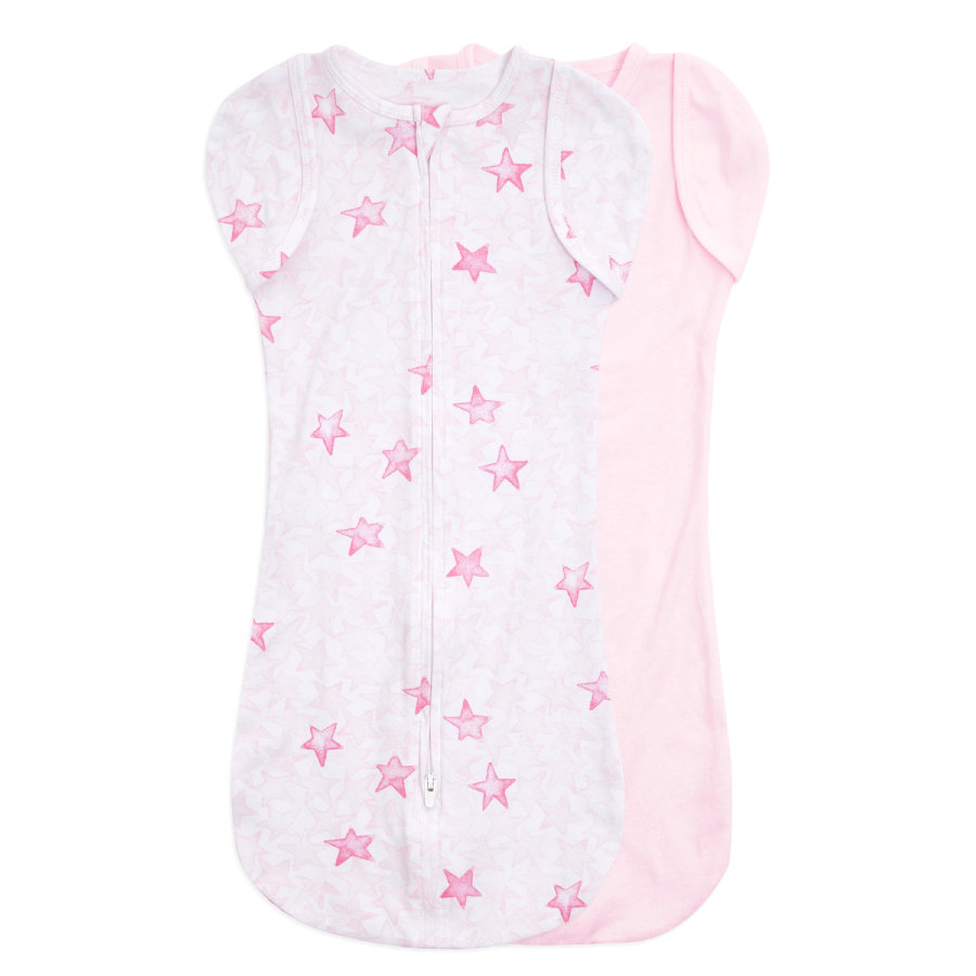 aden + anais™ essentials easy swaddle™ Pucktuch 2er-Pack twinkling stars pink