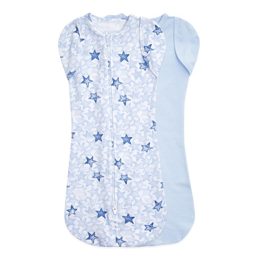 aden + anais™ essentials easy swaddle™ Puckark 2-pakke blinkende stjerner blå