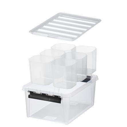 Orthex SmartStore™ Aufbewahrungsbox Classic 15 + 6  Einsätze, transparent