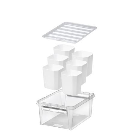 Orthex SmartStore ™ oppbevaringsboks Classic 15 + 6 innlegg, gjennomsiktig
