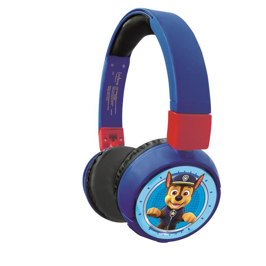 LEXIBOOK Casque audio enfant Bluetooth et filaire Pat Patrouille, microphone