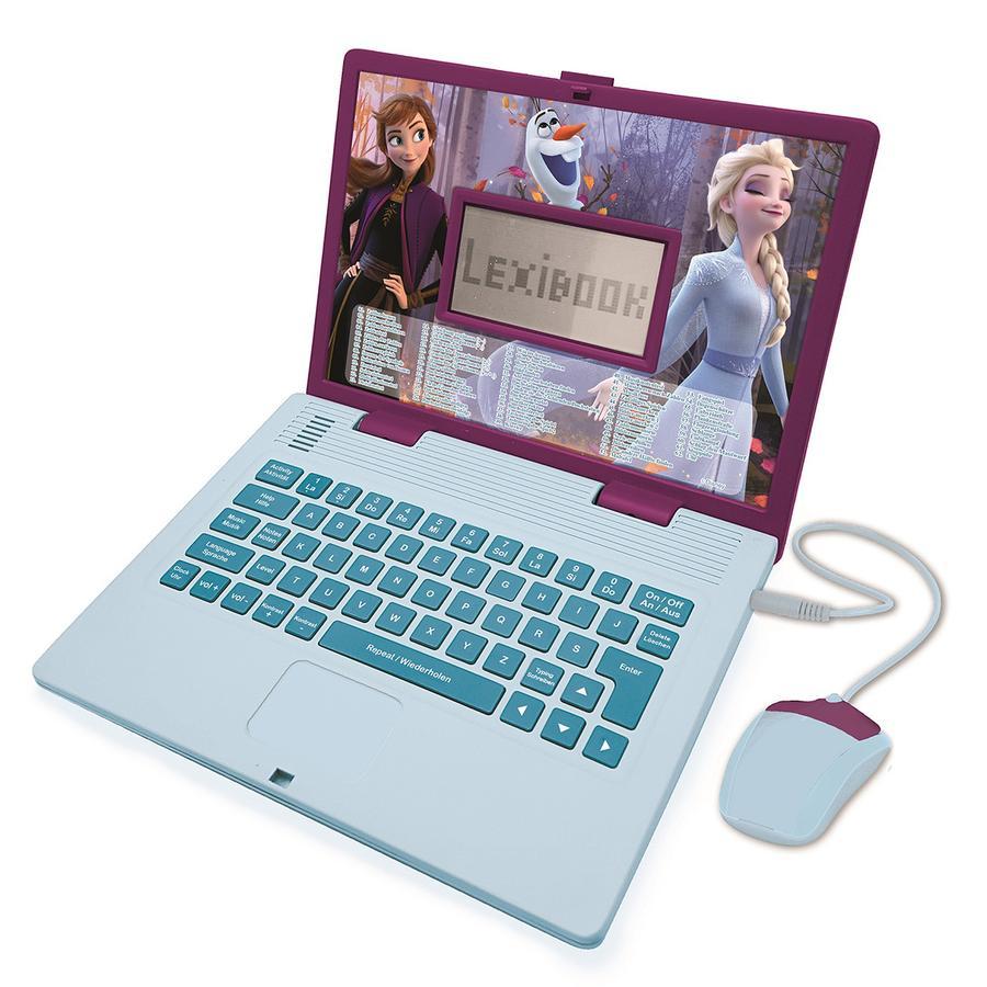 LEXIBOOK Disney Die Eiskönigin - Zweisprachiger Laptop, Englisch und Deutsch