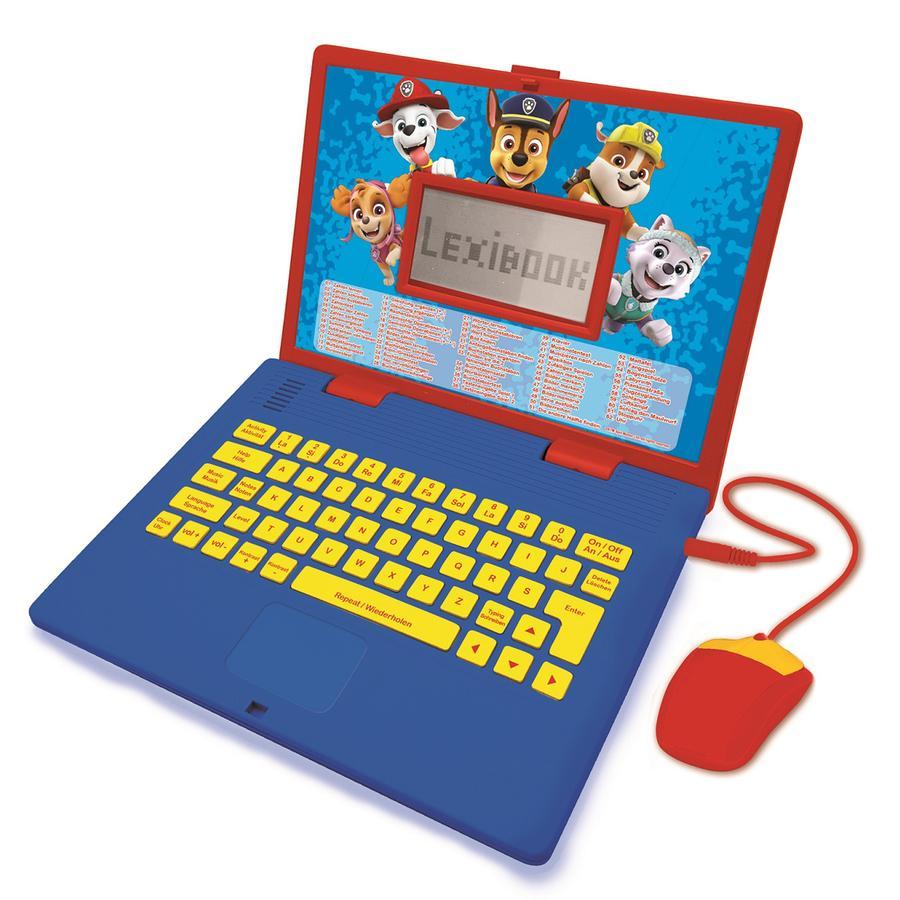 LEXIBOOK Paw Patrol - Zweisprachiger Laptop, Englisch und Deutsch