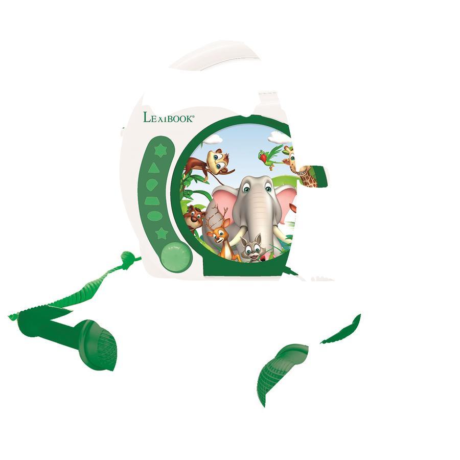 LEXIBOOK Animals Bärbar CD-spelare med 2 mikrofoner