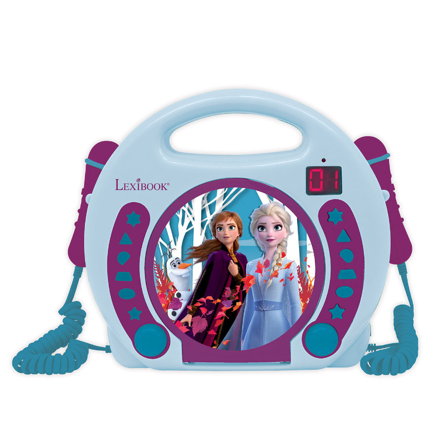 LEXIBOOK Disney Eiskönigin Tragbarer CD-Player mit 2 Mikrofonen