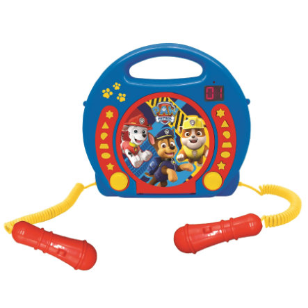 LEXIBOOK Lecteur CD enfant portable Pat Patrouille 2 micros