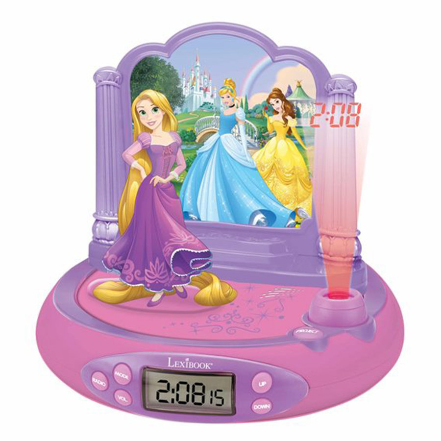 LEXIBOOK Disney Prinzessin Projektionswecker