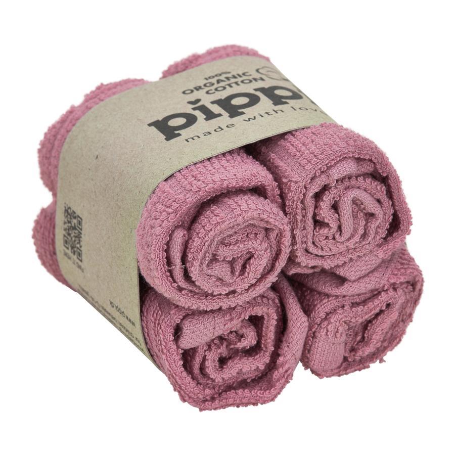 Pippi vaskekluter 4-pack gammel rose