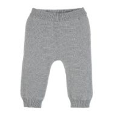 Sterntaler Pantalones de punto gris claro melange