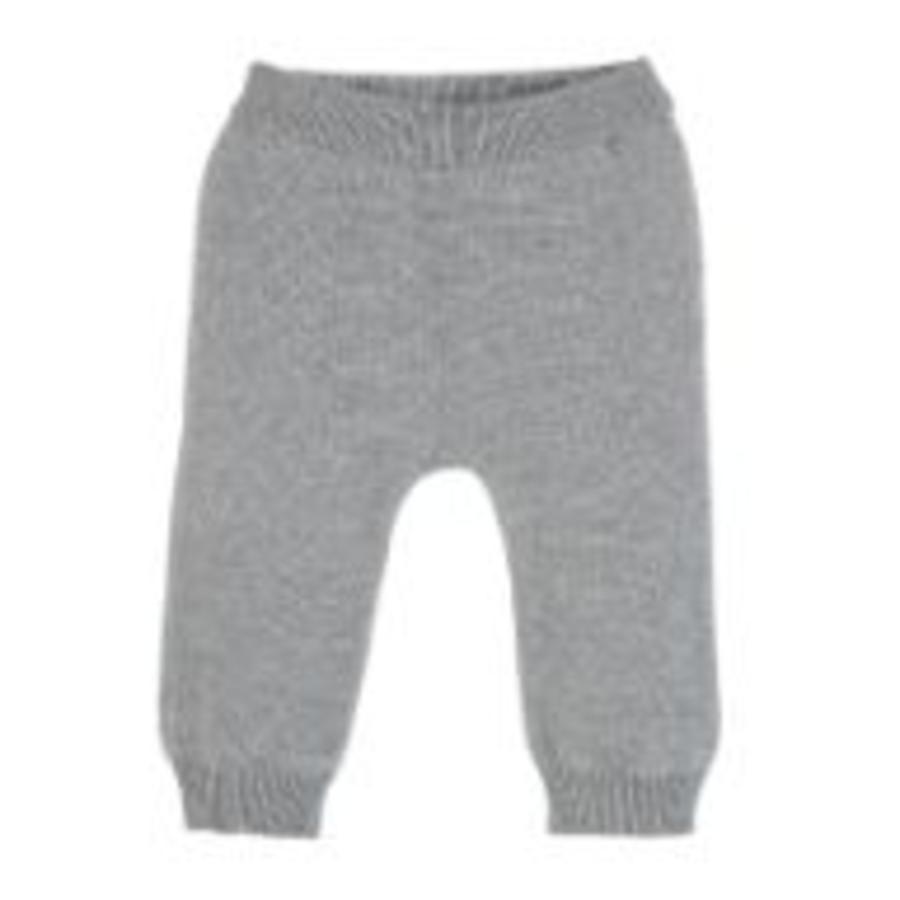 Sterntaler Pantaloni a maglia grigio chiaro melange