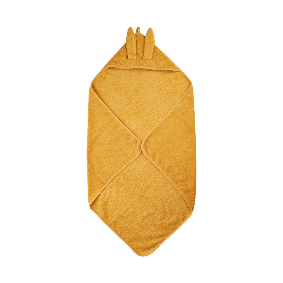 Pippi Ręcznik z kapturem Mineralny Yellow 83 x 83 cm