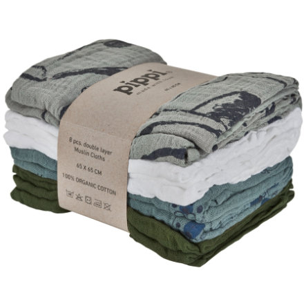 Pippi Muslin -pyyhepakkaus 8 kpl