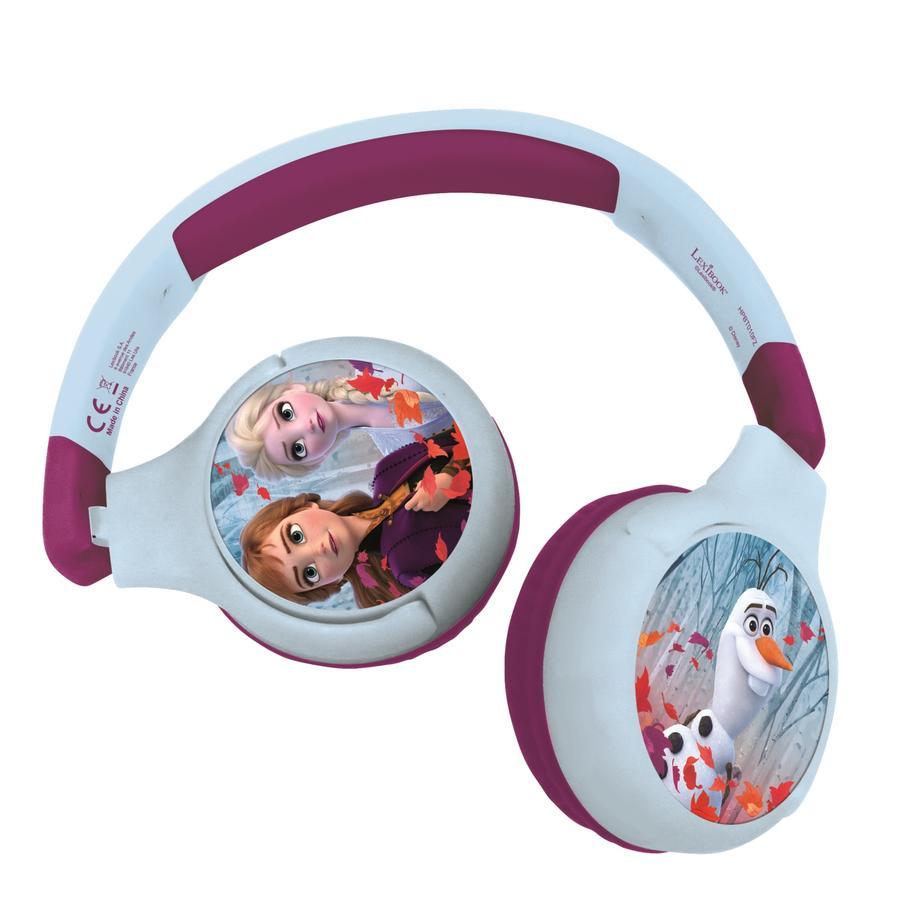 LEXIBOOK Disney Die Eiskönigin 2-in-1-Bluetooth-Kopfhörer für Kinder mit integriertem Mikrofon