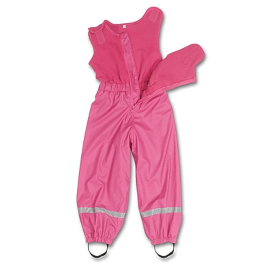 PLAYSHOES Regnbyxor med fleece pink