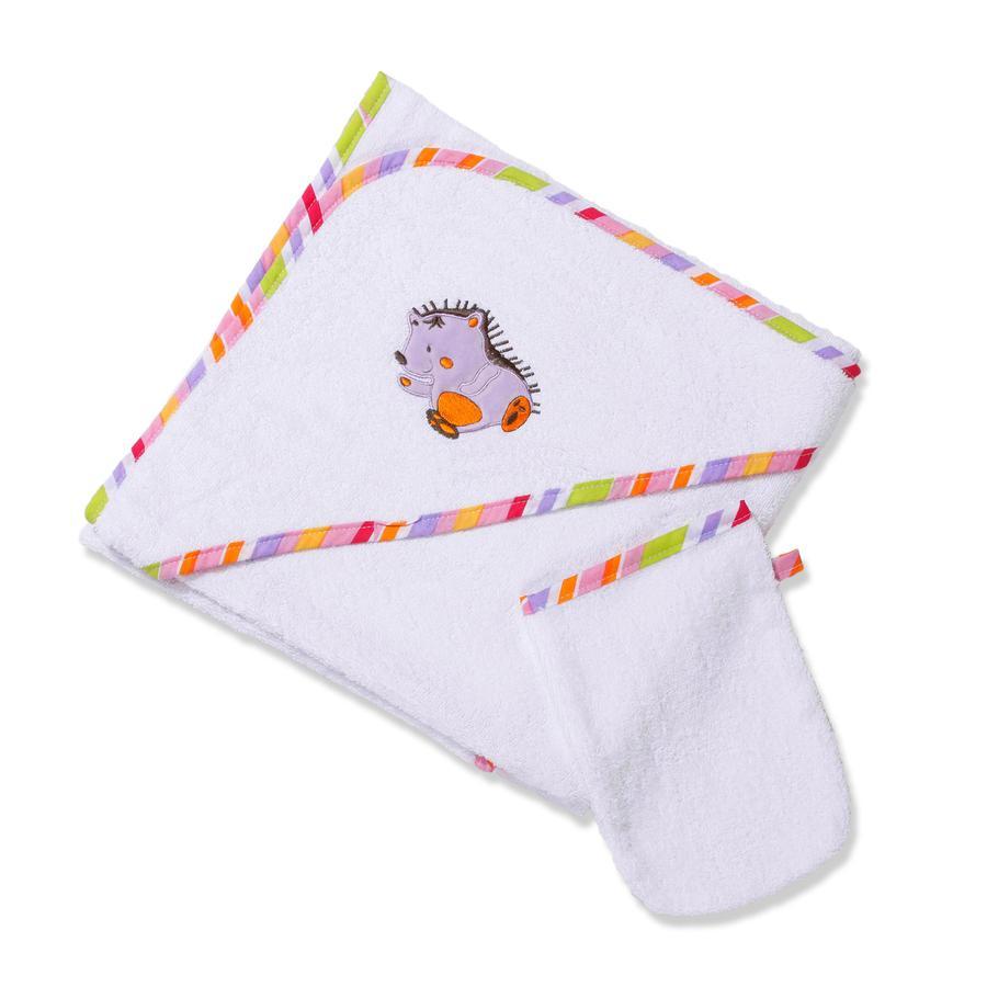 Easy Baby Set éponge cape de bain 100x100 avec gant de toilette Tahiti (360-75)