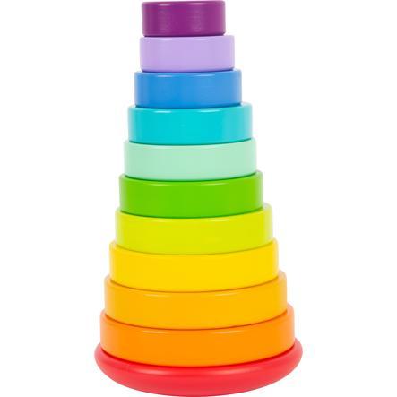 small foot  ® Stapelende toren plug-in game regenboog