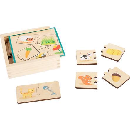 small foot® Lernspiel Holzpuzzle Tiere füttern