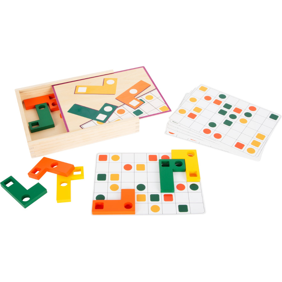 small foot  ® Dřevěné puzzle geometrické tvary