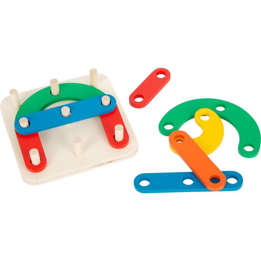 small foot® Lernspiel Steckpuzzle Buchstaben und Zahlen