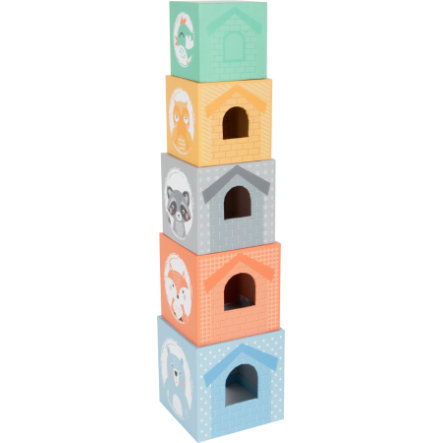 SMALL FOOT® Stacking terning pastell