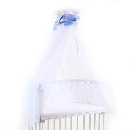TOBI BABYBAY Sänghimmel blå/vit