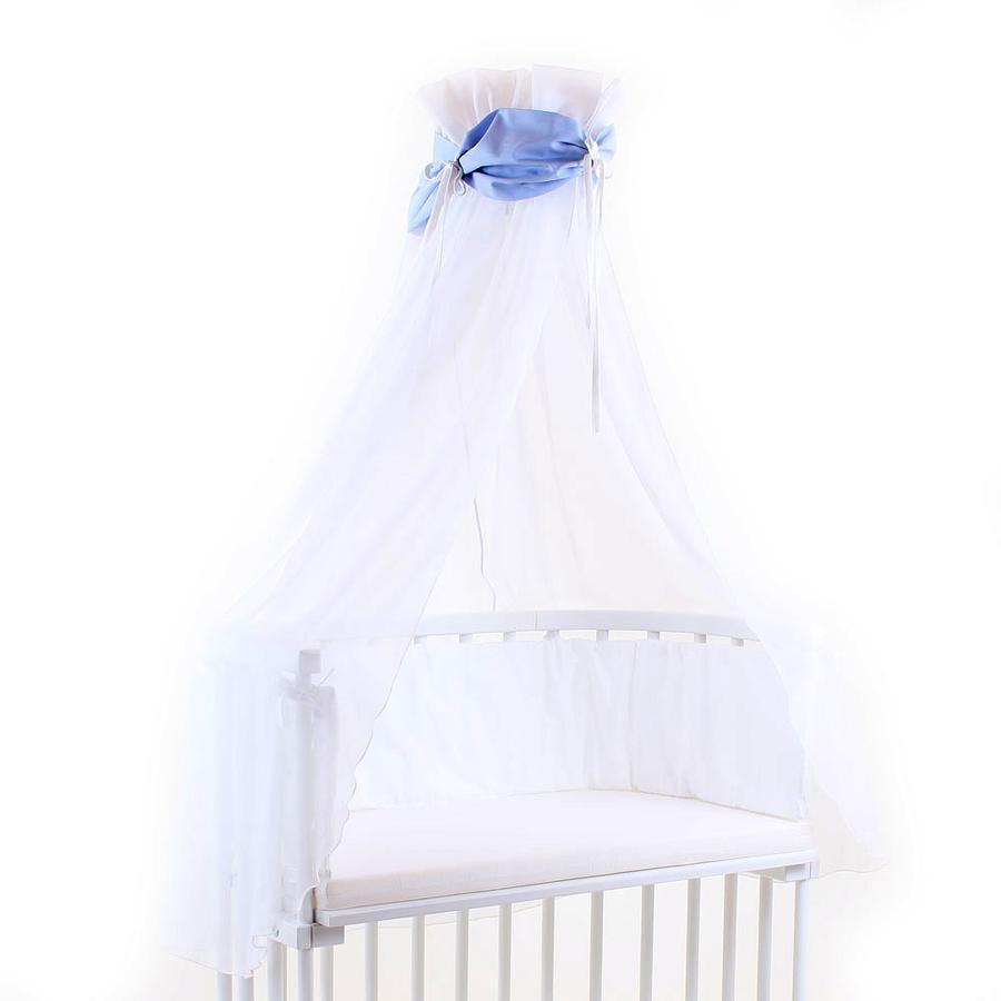 babybay Sänghimmel blå/vit