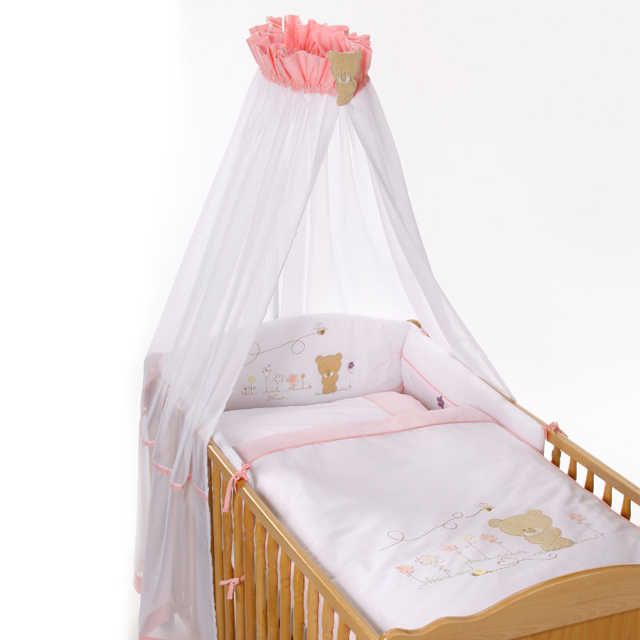 Easy Baby Komplet pościeli Honey Bear rose 100x135 (400-42)